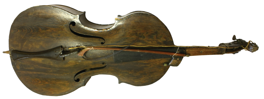 Small double bass and bow